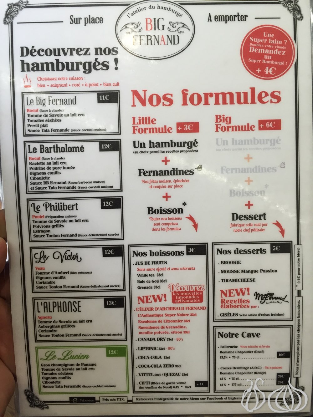 Top Big Fernand: My Burger in Paris :: NoGarlicNoOnions: Restaurant  RF84