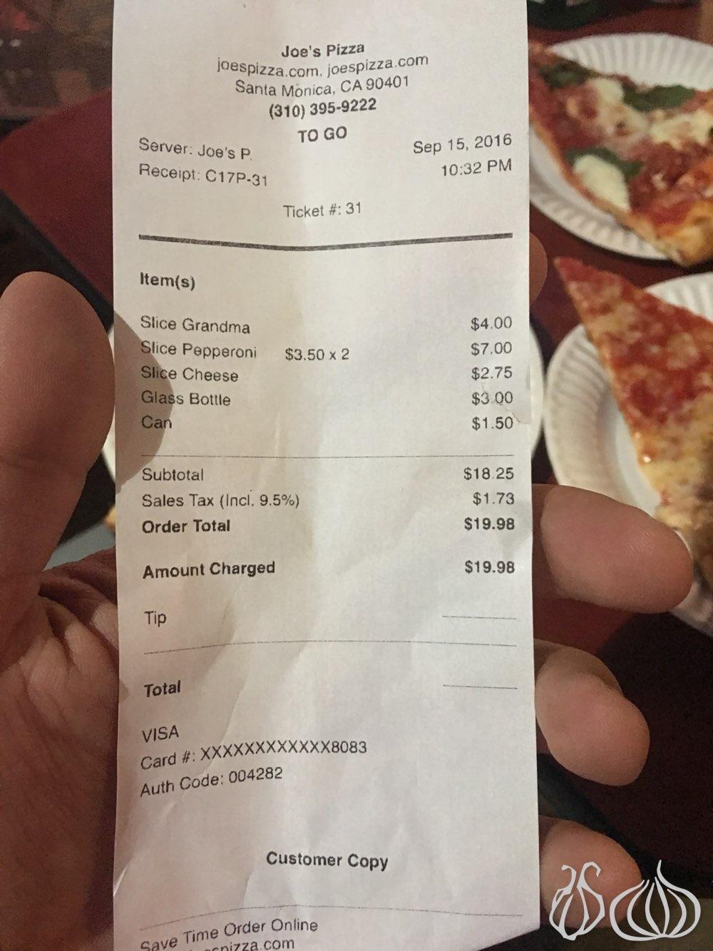 Joe\'s Pizza: Santa Monica\'s Ocean Drive Pizzeria :: NoGarlicNoOnions ...