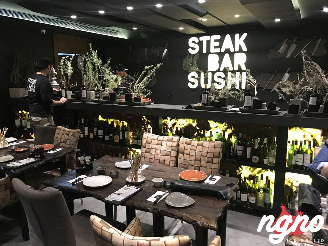 Steak bar sushi surrender to a unique culinary experience for Food bar experience
