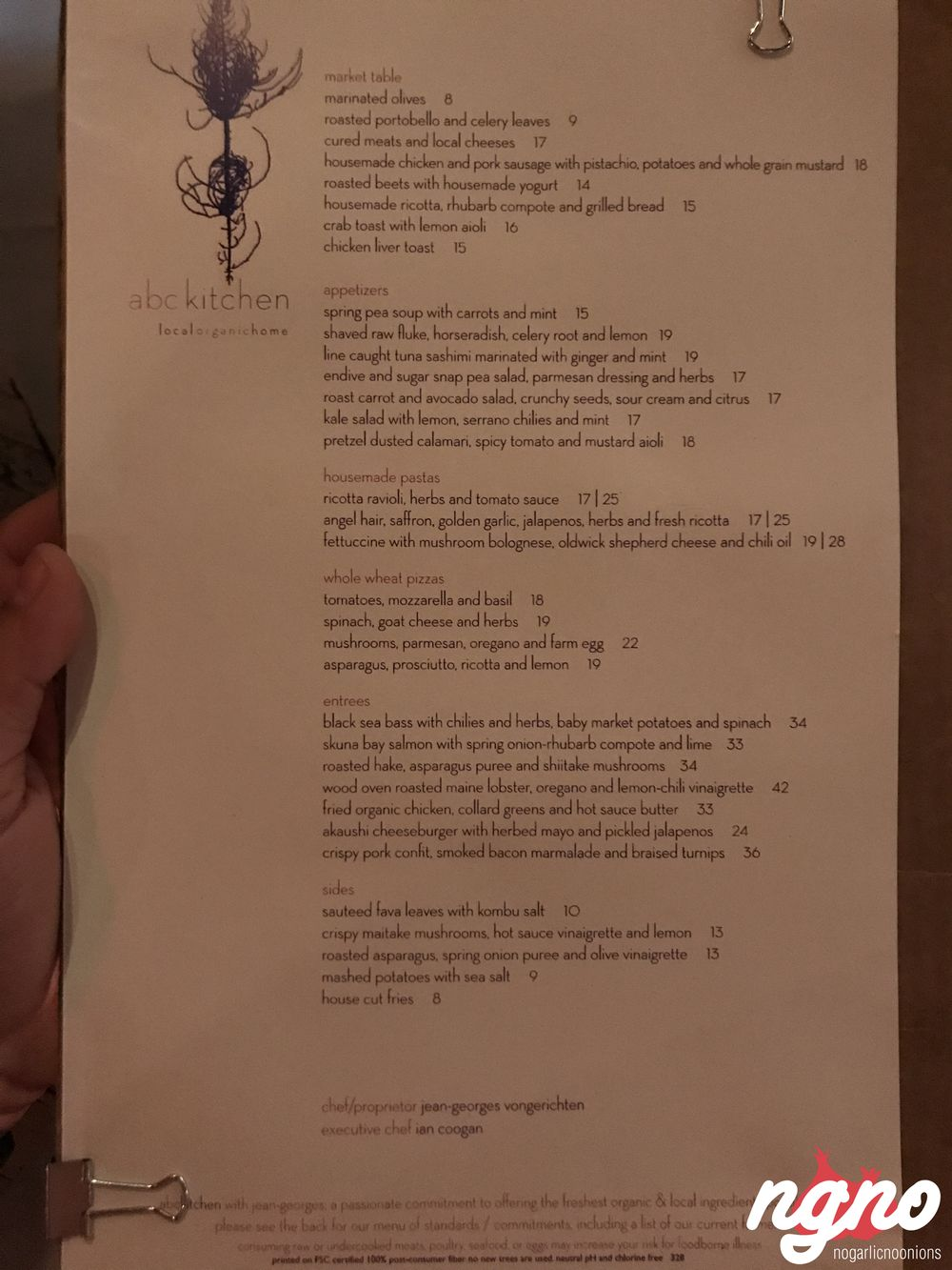 abc kitchen a flawless experience in new york nogarlicnoonions