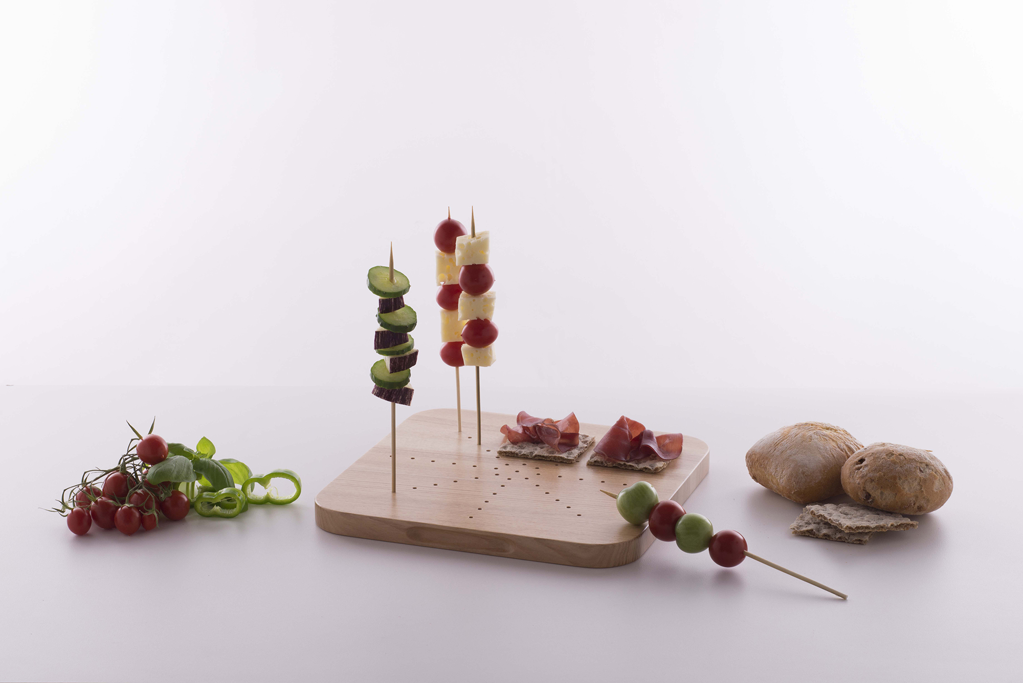 Sunday evening gathering serve your canapes in style for Canape serving platters