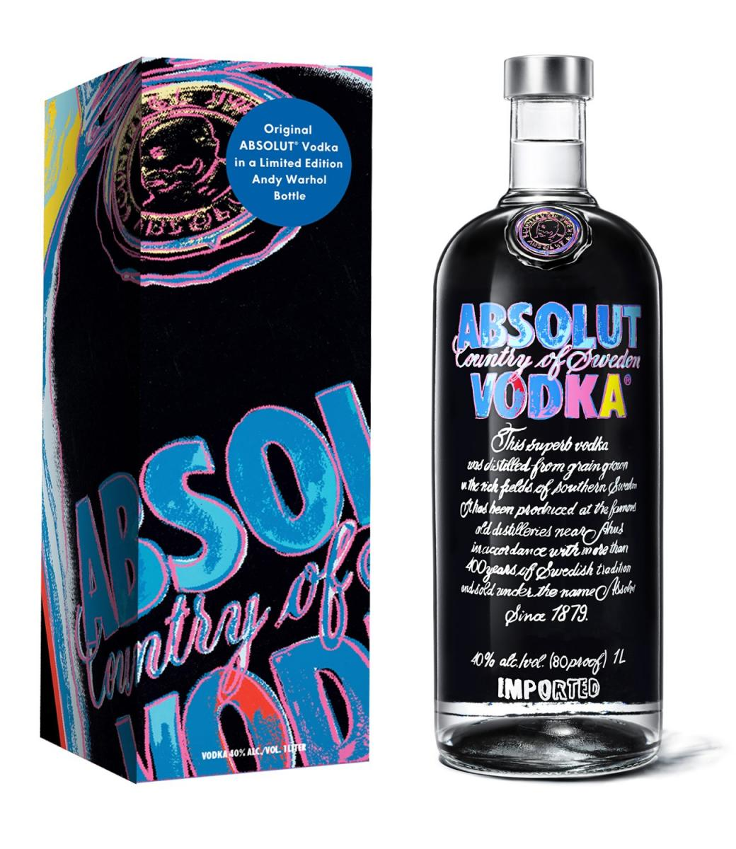 ABSOLUT Warhol Gift Carton & Bottle