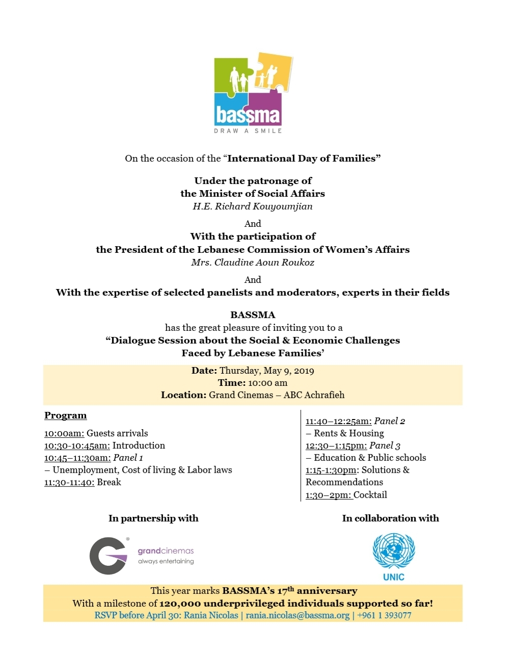 Invitation - Dialogue Session, May 9