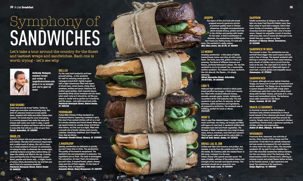 Symphony of Sandwiches