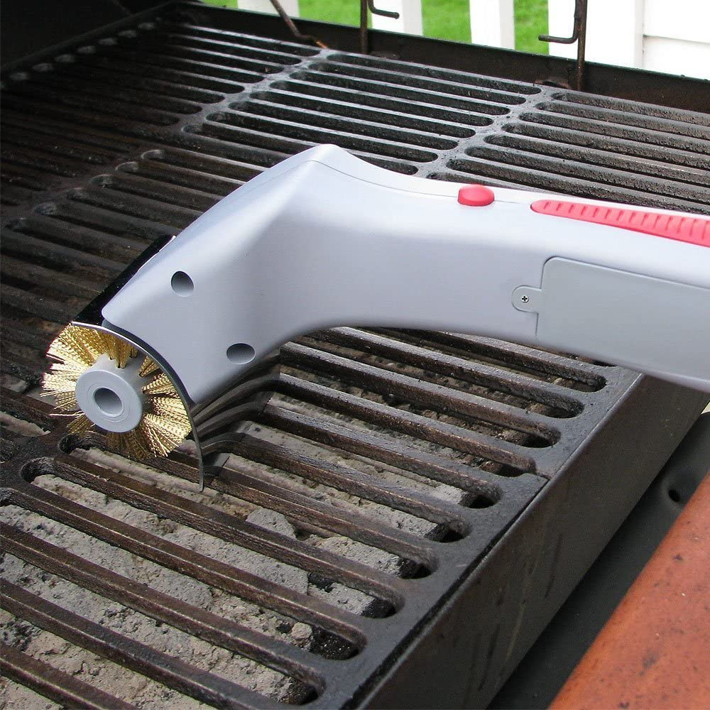 battery-operated grill brush