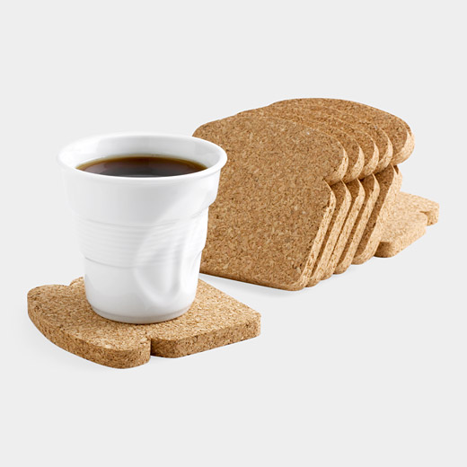 Toast It Drink Coasters Make Breakfast More Fun To Eat