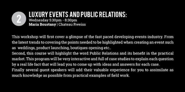 Luxury Event and Public Relations