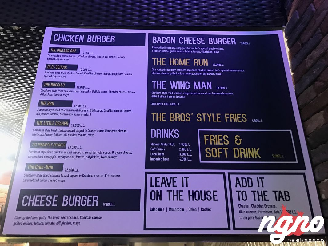 The Bros The Buffalo Chicken Burger Now In Mar Mikhael