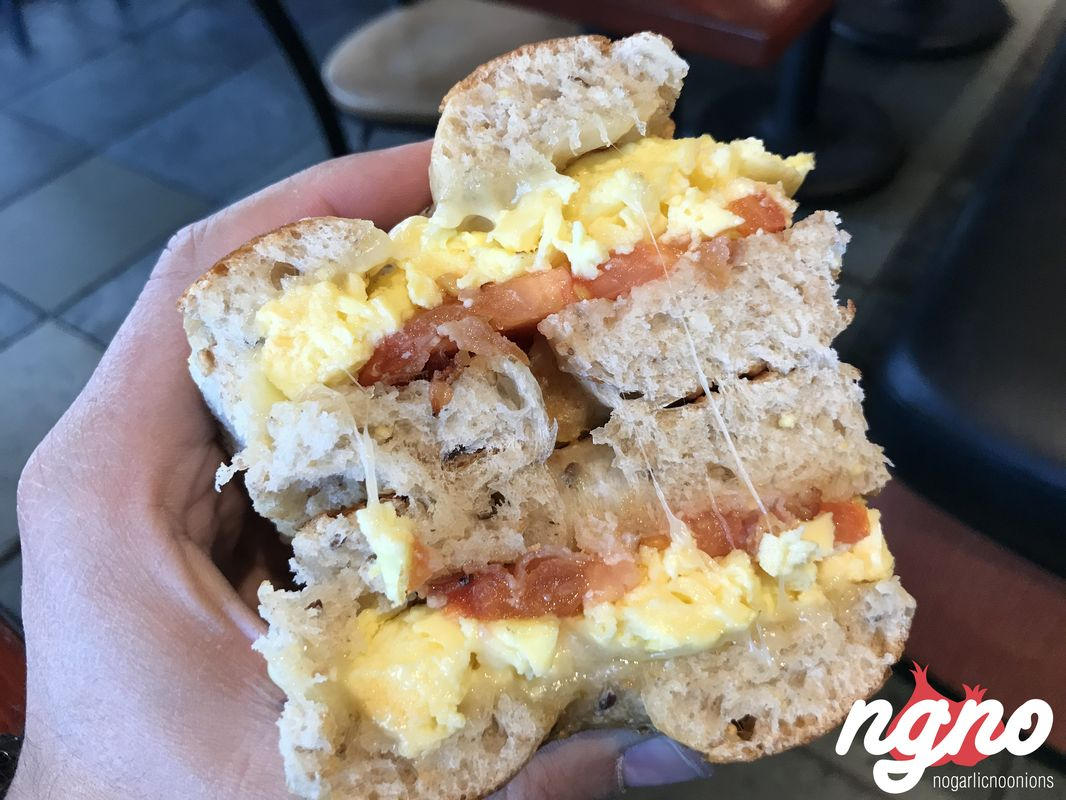 Cosi: Eggs and Croissant Sandwiches :: NoGarlicNoOnions: Restaurant on