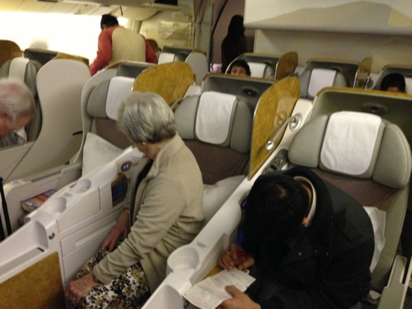 On Board Emirates Business Cl To Mumbai India