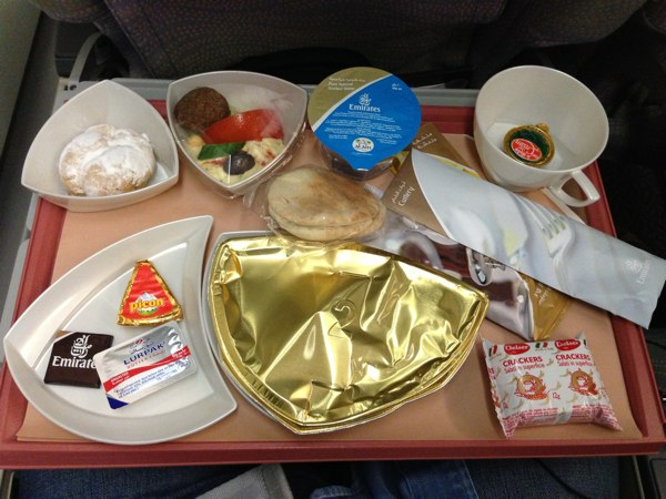 On Board Emirates Airlines Economy Class Beirut Dubai Nogarlicnoonions Restaurant Food