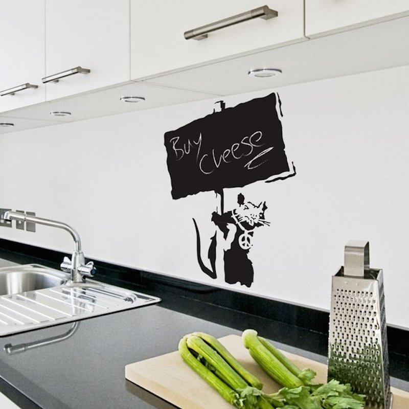 Banksy-Chalkboard-Rat-Wall-Sticker